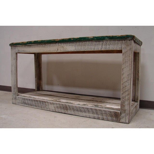 Primitive Console Table Vanity Cabinet - Image 2 of 3
