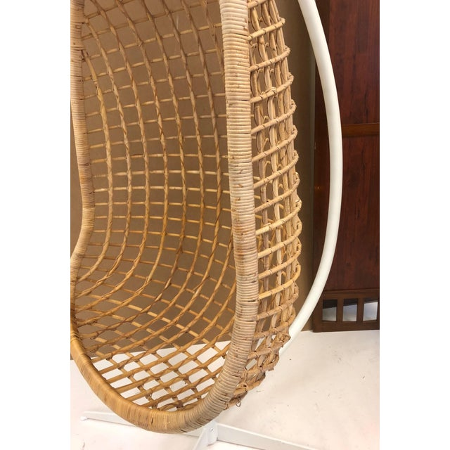 1960s 1960s Rattan Swing Chair For Sale - Image 5 of 10