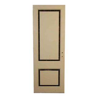 Cream and Black Two Panel Door