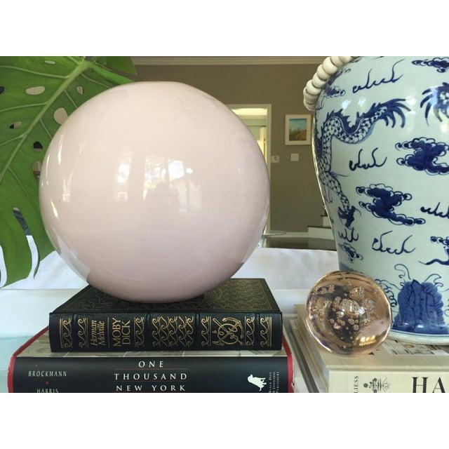 Large Round Gumball Pink Vintage Vase - Image 7 of 7