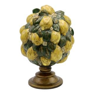 Vintage Italian Floral Lemon Tree / Topiary For Sale