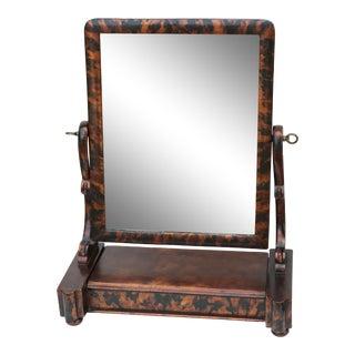 Tortoiseshell Dresser Top Shaving Mirror For Sale