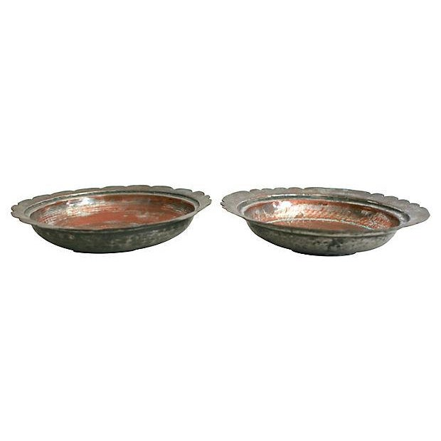 Egyptian Copper Bowls - a Pair - Image 3 of 5