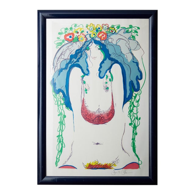 """Flowers in Her Hair,"" Frank Gallo Signed Serigraph For Sale"