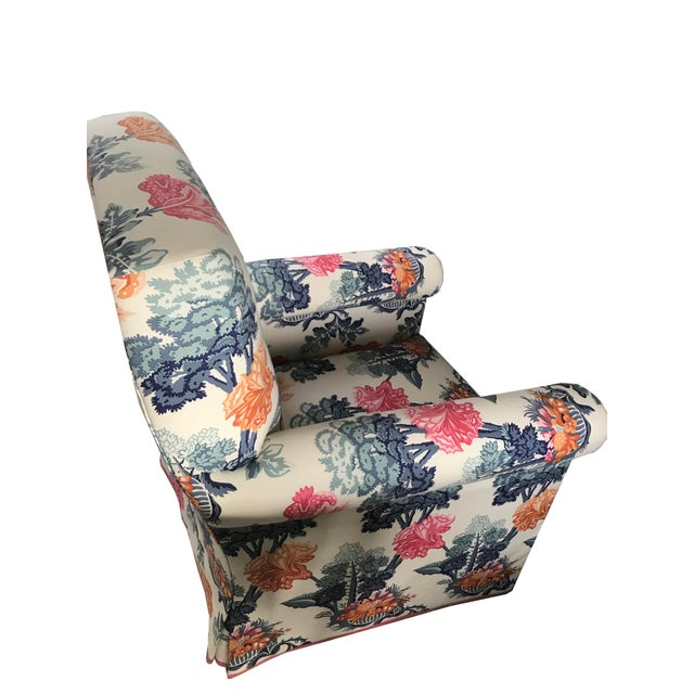 Jon Stefanidis Floral Fabric Skirted Armchair - Image 5 of 6