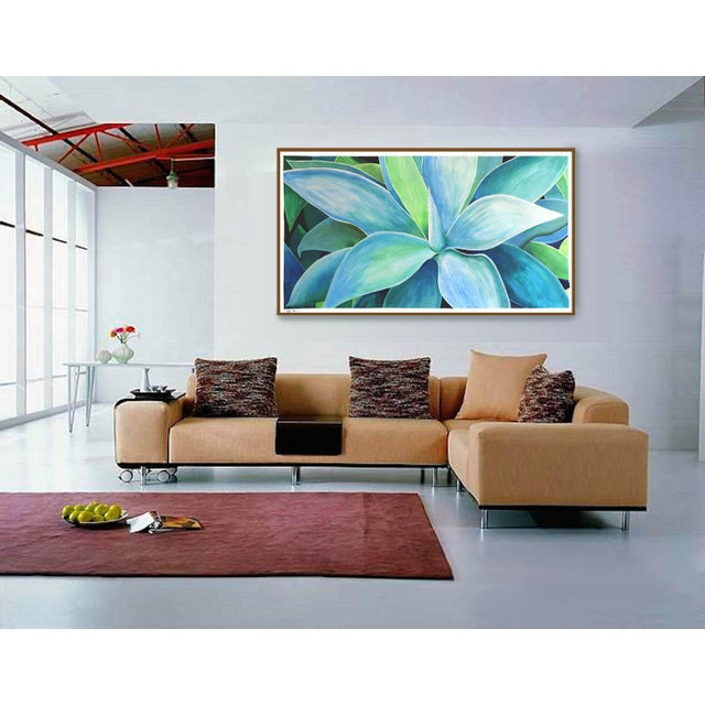 """Agave Number Five"" Acrylic Painting - Image 7 of 9"