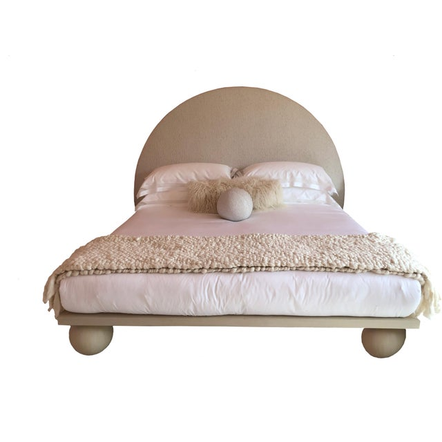 Jp Upholstery Jp Upholstery Cleo King Bed For Sale - Image 4 of 6