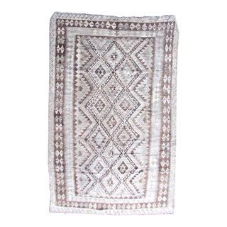 1970s Handmade Vintage Afghan Kilim For Sale