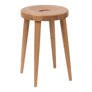 Milkmaid Stool in Natural Oak For Sale