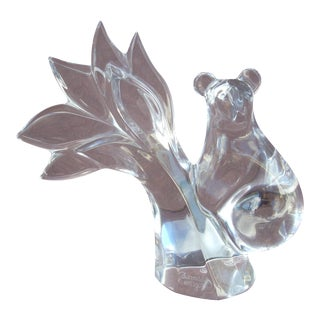 Baccarat Clear Crystal Climbing Bear For Sale