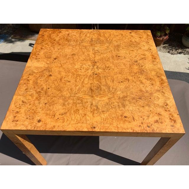 Vintage Mid Century Modern Werner Kanner Burl Wood Table For Sale - Image 9 of 10