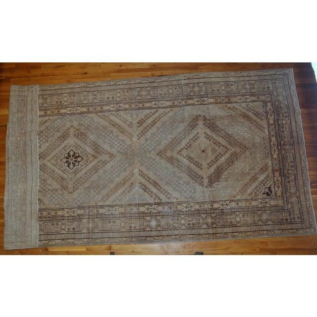 1900s Handmade Antique East Turkestan Khotan Rug 6.1' X 11.9' For Sale - Image 11 of 12