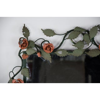 Mid-century Italian Toleware Rose Wall Mirror Preview