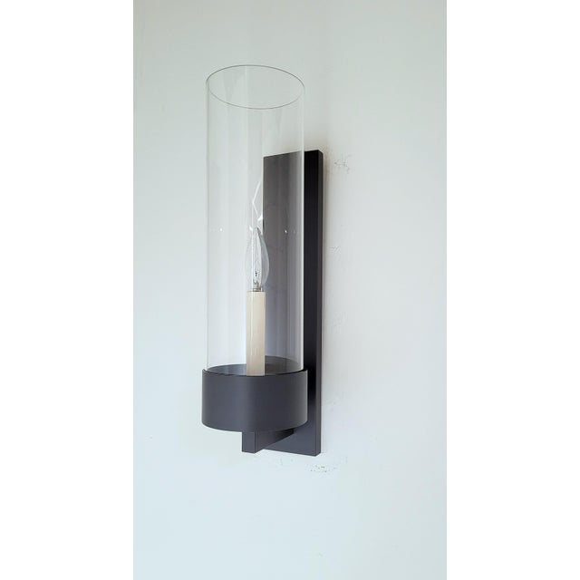 Contemporary Paul Marra Design Contemporary Hurricane Sconce For Sale - Image 3 of 4