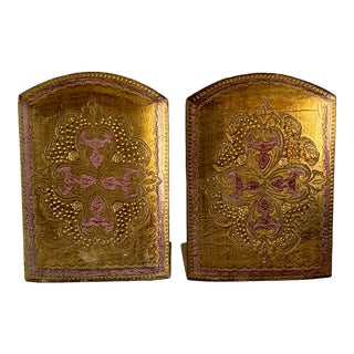 Italian Florentine Bookends - a Pair For Sale