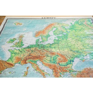 Giant Vintage Pull Down Map of Europe Preview
