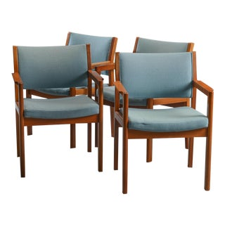 Danish Modern Mahogany Armchairs - Set of 4 For Sale