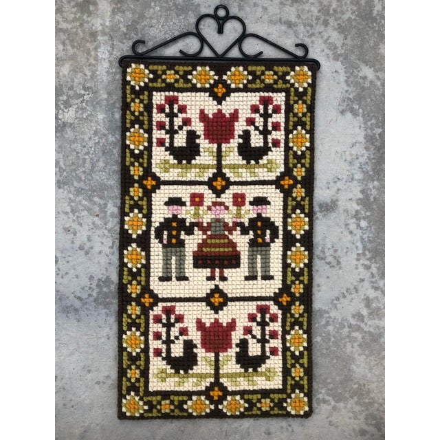 1960s Vintage Swedish/Scandinavian Wall Hanging/Tapestry For Sale - Image 5 of 5