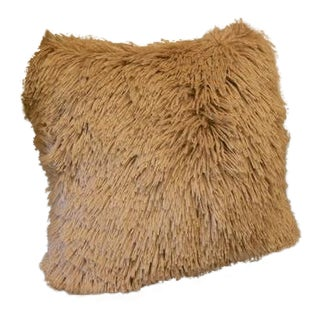 Large Faux Alpaca Throw Pillow For Sale