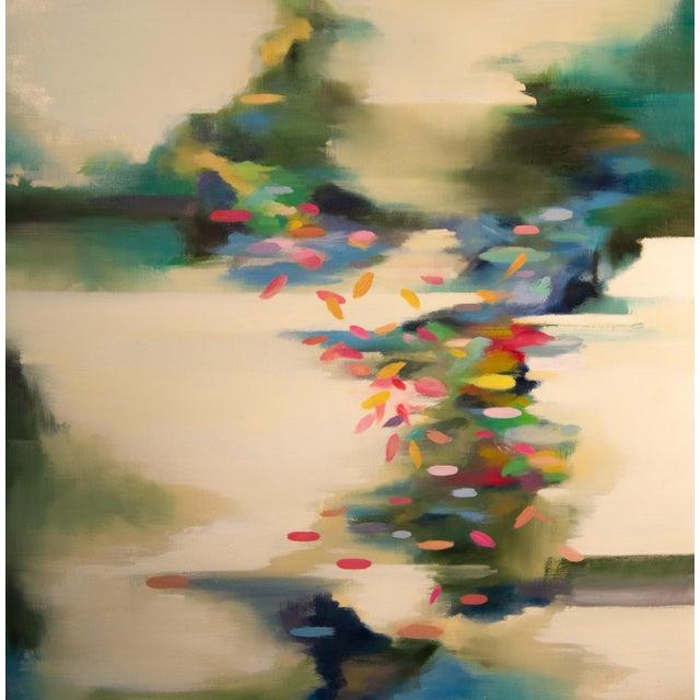 Liz Dexheimer Meditation Series Burst Abstract Landscape Painting For Sale