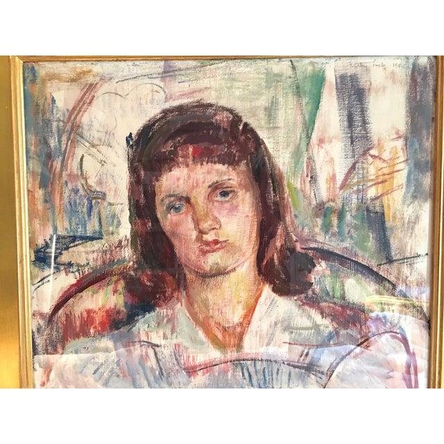 Modern Vintage Modernist Portrait by Dorothy Loeb For Sale - Image 3 of 9