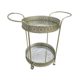 20th Century French Regency Serving Mirror Bar Vanity Cart For Sale
