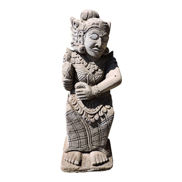 Carved Balinese Statue For Sale