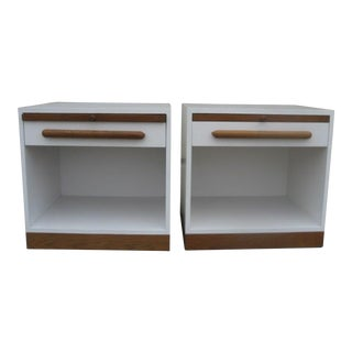 1970s Hollywood Regency Stewart McDougall for Glenn of California Nightstands - a Pair For Sale