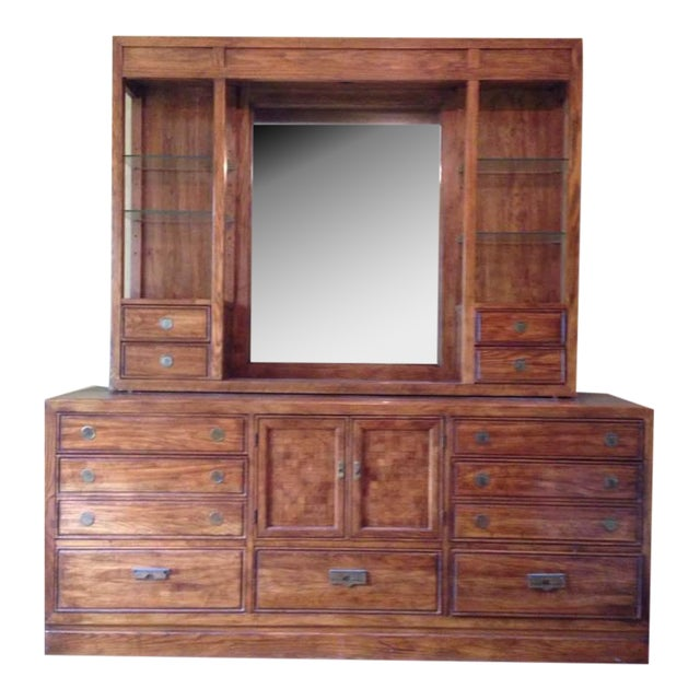 Thomasville Carved Maple Hutch - Image 1 of 7