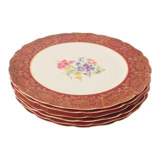 Vintage Floral Dinner Plates - Set of 6