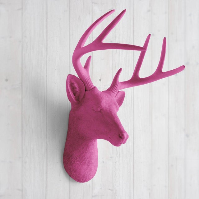 Make your walls charming with the Wall Charmers Mini Deer head faux taxidermy. This fake deer head mount will be a great...