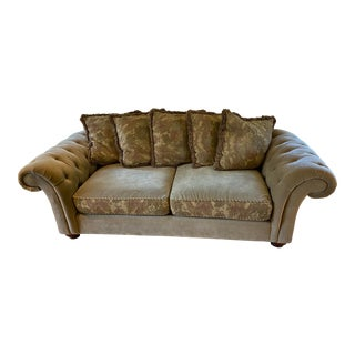 Domain Tufted Arm Sofa For Sale