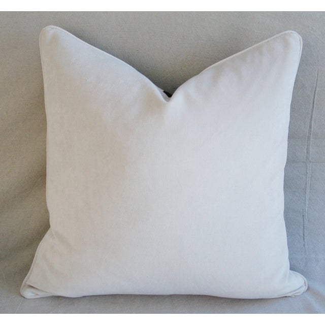 """Custom Brunschwig & Fils Zebra Feather/Down Pillows 23"""" Square - a Pair For Sale - Image 10 of 15"""