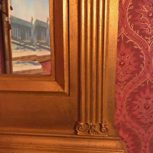 Giltwood Burnished Gold Gilt Wood Beveled Mirror For Sale - Image 7 of 10