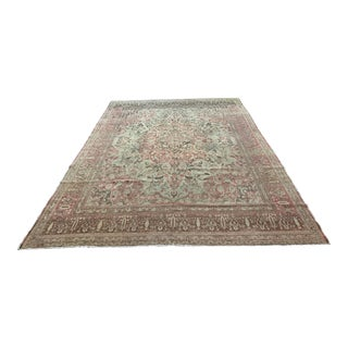 Early 20th Century Antique Persian Tabriz Hajijalili Rug - 10′ × 13′ For Sale