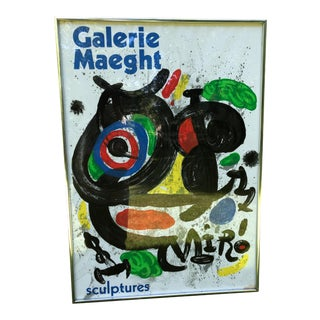 Joan Miro Original Galerie Maeght Lithograph Poster For Sale
