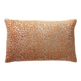 Aldeco Leopard Lumbar Pillow in Orange For Sale
