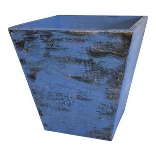 Rustic Frustrum-Shaped Wooden Vessel Wine Cooler Jardinière