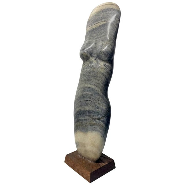 Vintage Female Nude Marble Sculpture by John Cody - Image 1 of 7