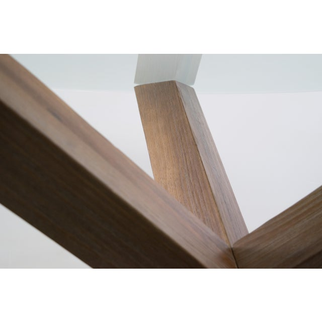 Sculptural Cerused White Oak Dining Table Attributed to Ralph Lauren - Image 11 of 11
