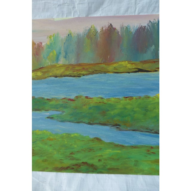 River's Edge Oil Painting by H.L. Musgrave - Image 4 of 6