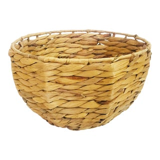 Vintage Faceted Plant Basket For Sale