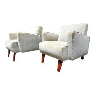 Art Deco High Style Club Chairs - A Pair