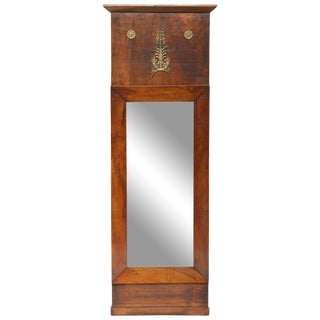Period French Empire Mahogany Trumeau For Sale