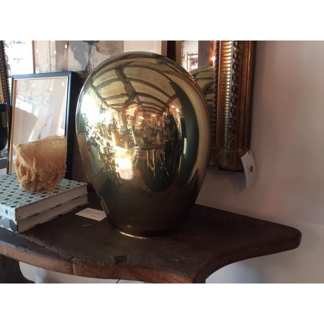 Fabulous Italian Salviati Murano lamp, made of gold glass with light bulb inside, a very unique piece, with a beautiful...