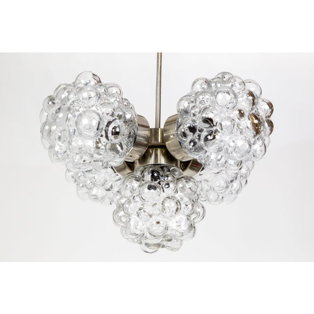 Mid-Century Modern Bubble Glass Cluster Chandelier by Helena Tynell For Sale - Image 3 of 9