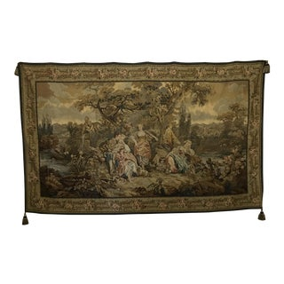 French Handmade Wall Tapestry For Sale