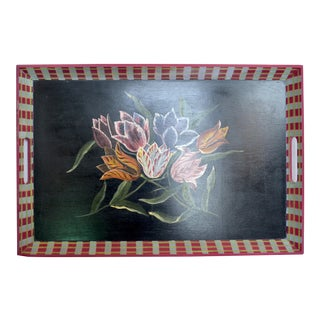 Neiman Marcus Floral Hand Painted Tray