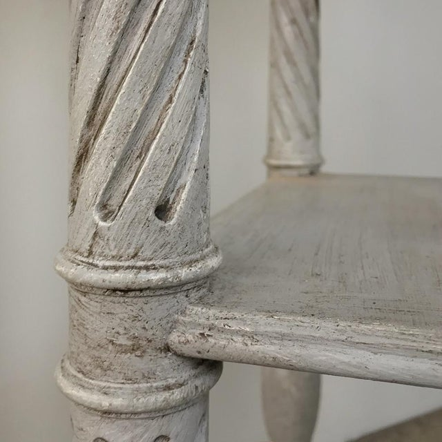 19th Century French Louis XVI Painted Pedestal For Sale - Image 12 of 13