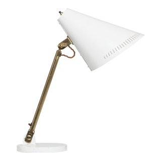 Paavo Tynell White Desk Lamp 9227, Idman, Finland, 1950s For Sale